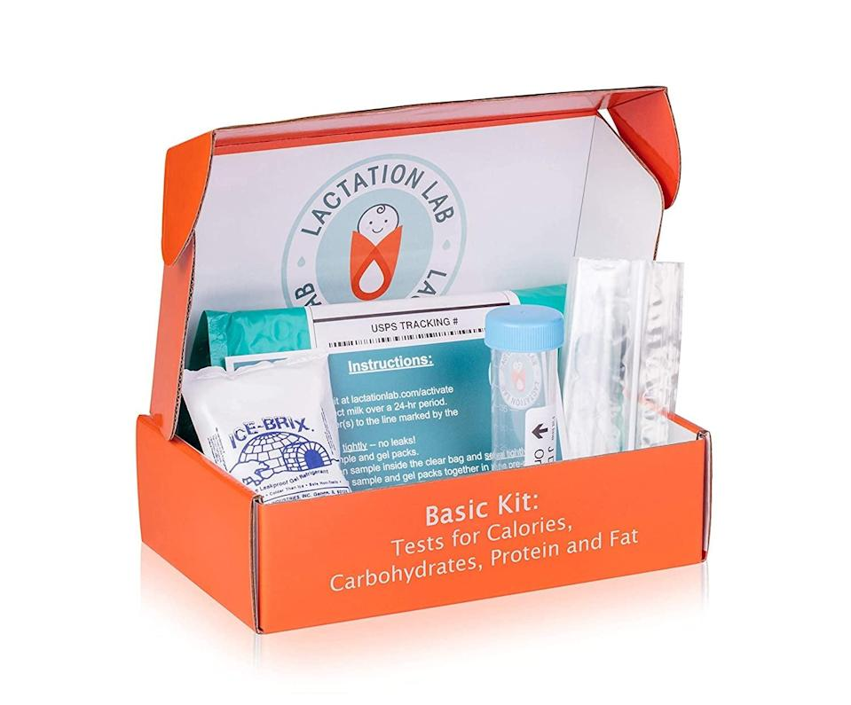 <p>Get to know what's in your breast milk with the <span>Lactation Lab Breast Milk Nutritional Analysis Kit</span> ($99). The kit tests for calories, carbohydrates, fat, protein, and more.</p>