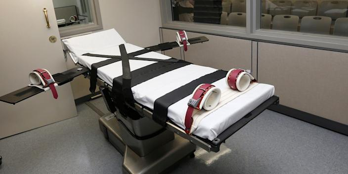 An execution chamber in Oklahoma.