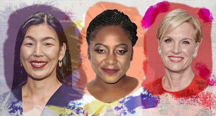 Ai-Jen Poo, Alicia Garza and Cecile Richards. (Yahoo News photo Illustration; photos: AP, Getty Images)