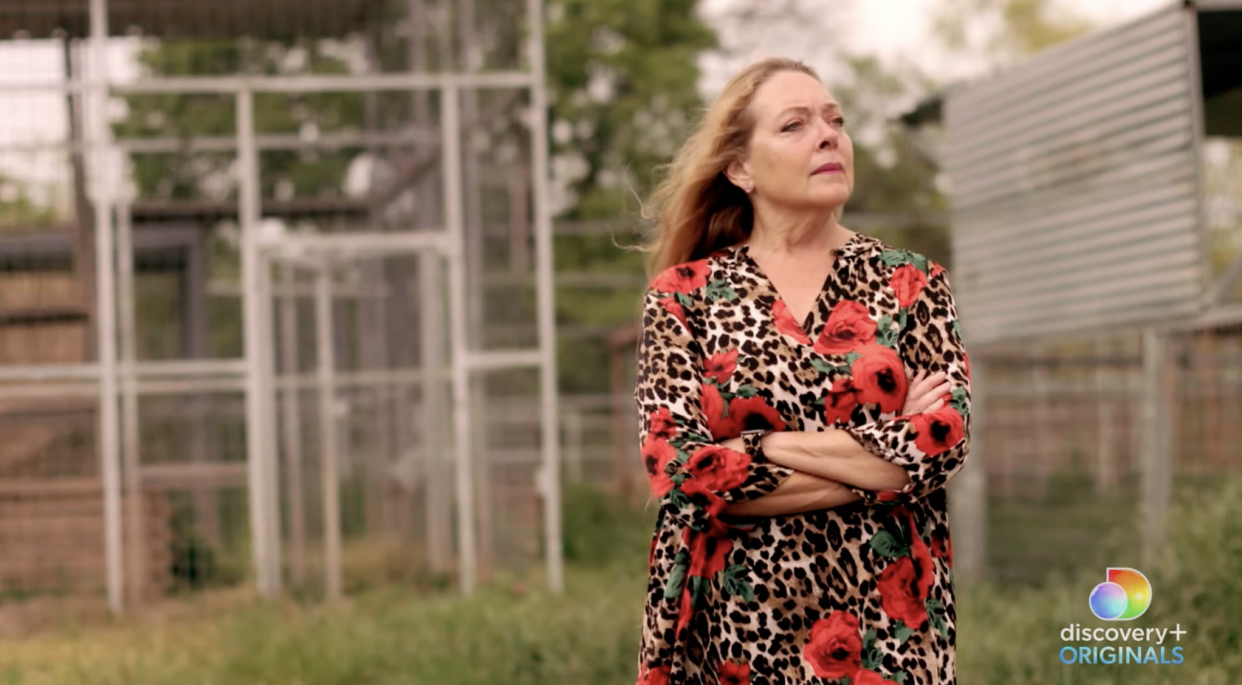 Carole Baskin stars in an upcoming two-part documentary on Discovery+. (Photo: Discovery/YouTube)