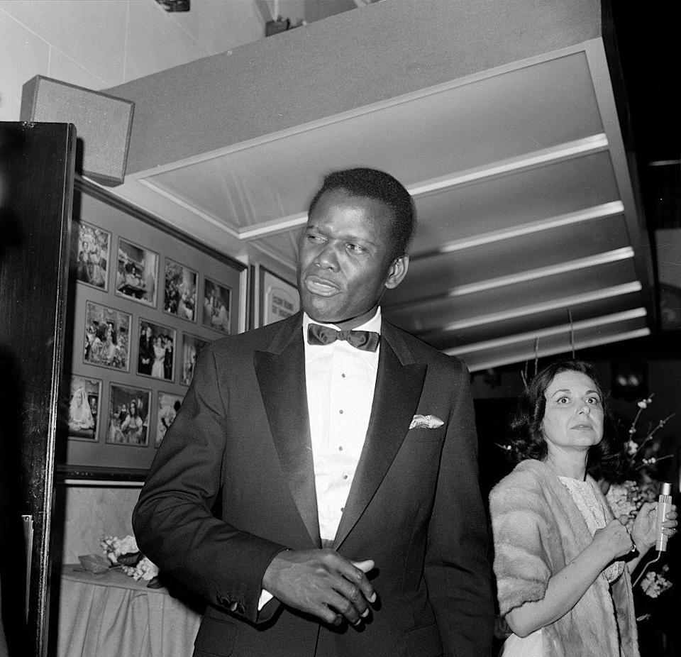 <p>Already an Academy Award winner, Poitier was at the commercial peak of his career at 40—one of the nation's biggest box office draws at the time—with three films in theaters: To Sir, With Love, In the Heat of the Night, and Guess Who's Coming to Dinner.</p>