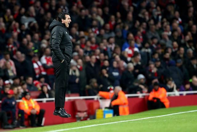 Arsenal manager Unai Emery is under pressure (Yui Mok/PA)