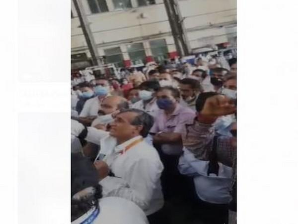 AIESL AMEs have threatened that protests will continue till all their demands are met. (photo/ANI)