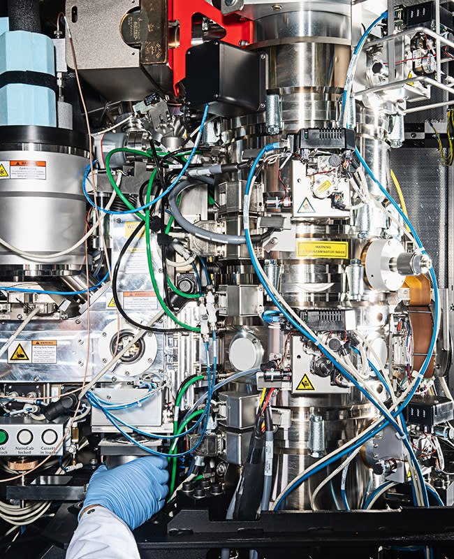 A $7 million microscope used in cancer research at The Frederick National Laboratory, run by Leidos. | Photograph by Scott Suchman