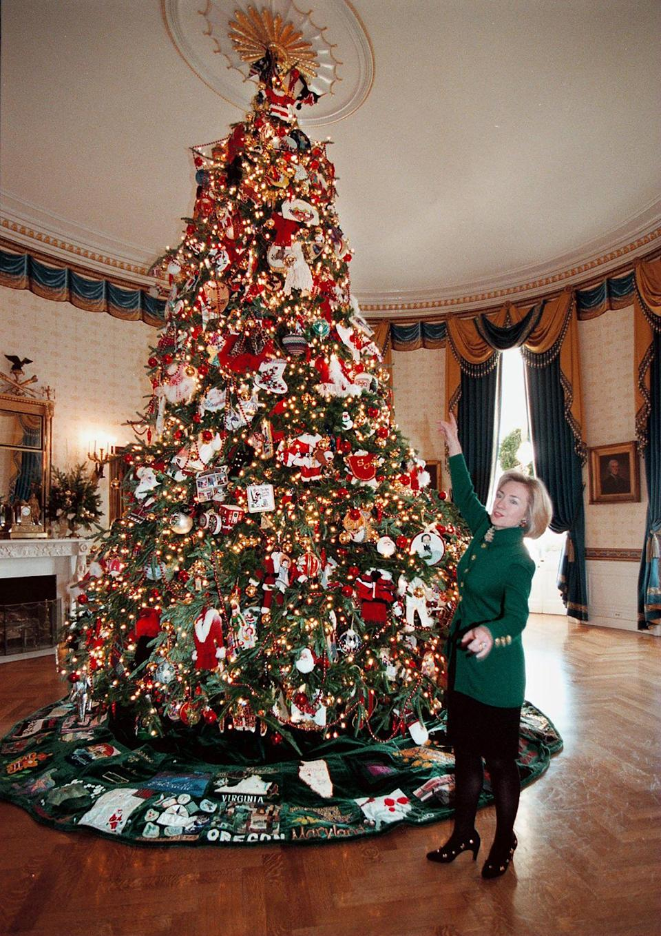 """<p>The record for the most Christmas trees decorating the White House is held by the Clinton administration, who put up 36 trees in 1997 all with the theme of """"Santa's Workshop.""""</p> <p>The record was previously long held by the Eisenhower administration, which spread 26 trees across each floor of the house.</p>"""