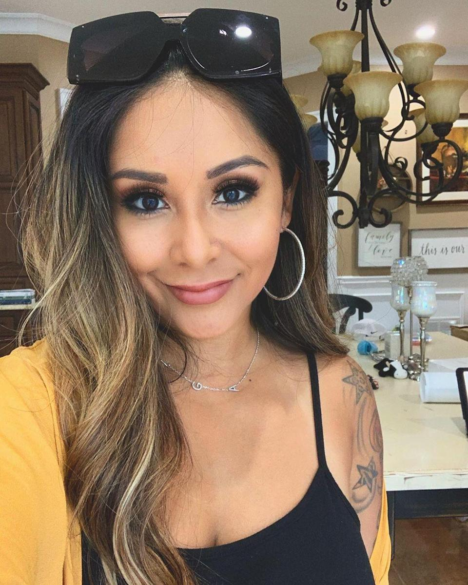 """<p>The <em>Jersey Shore: Family Vacation</em> star has urged busy moms not to leave intimacy off the to-do list, saying she keeps her marriage to Jionni LaValle spicy by acting out the wildest fantasies.</p> <p>On an episode of <a href=""""https://people.com/parents/nicole-polizzi-snooki-porn-star-sex/?utm_source=twitter.com&utm_medium=social&utm_campaign=social-share-article&utm_term=6552915"""" rel=""""nofollow noopener"""" target=""""_blank"""" data-ylk=""""slk:PEOPLE's Mom Talk"""" class=""""link rapid-noclick-resp"""">PEOPLE's Mom Talk</a>, Polizzi said it was so important for parents to have alone time with their partners to keep things hot, and agreed when <em>Orange Is the New Black</em> actress Alysia Reiner said that """"sex with noise"""" is a must.</p> <p>""""Just being, like, a porn star,"""" the <em>Jersey Shore</em> alum agreed.</p> <p>Polizzi has <a href=""""https://people.com/parents/nicole-snooki-polizzi-talks-sex-after-giving-birth-to-3-kids/"""" rel=""""nofollow noopener"""" target=""""_blank"""" data-ylk=""""slk:previously likened"""" class=""""link rapid-noclick-resp"""">previously likened</a> sex after baby to feeling like the first time all over again, walking through what the her dream date would look like.</p> <p>""""I want my husband to take me out to dinner and I want to get horny drunk on wine and then we put the kids to bed,"""" she said. """"Then we will go in our spare room and keep drinking wine and that's how I want it to happen.""""</p> <p>Polizzi and LaValle are parents to to sons Lorenzo, 8, and Angelo, 1, and daughter Giovanna, 6.</p>"""
