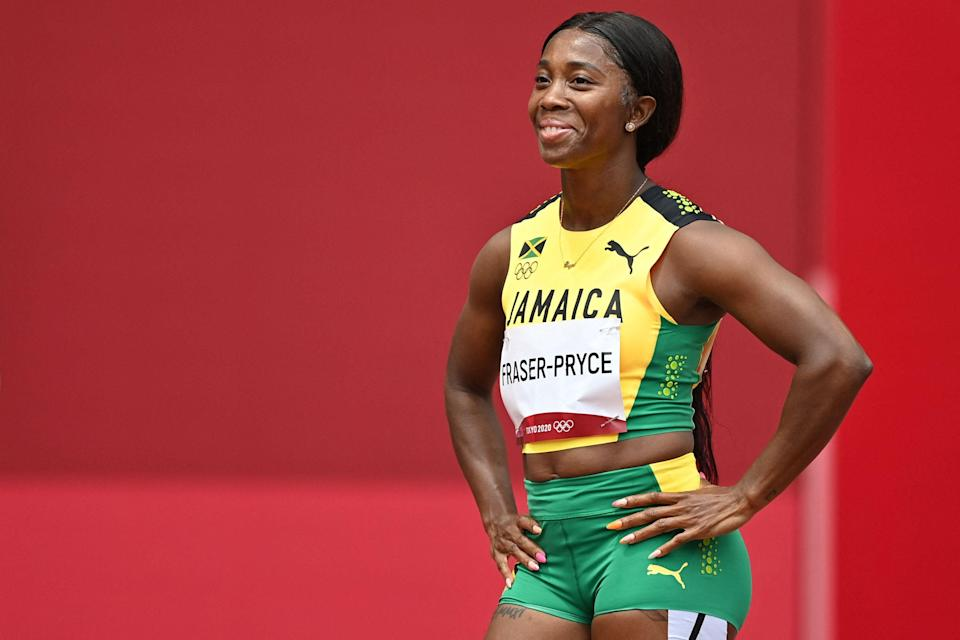 Shelly-Ann Fraser-Pryce is the favourite for the women's 100m (AFP)