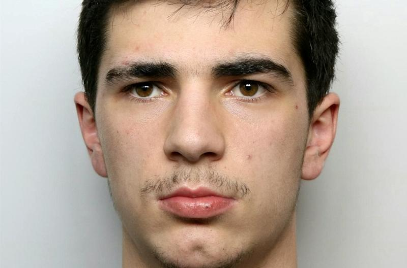 Landon Smith, 22, pleaded guilty to causing the death of a man who died three years after he was attacked (Picture: SWNS)