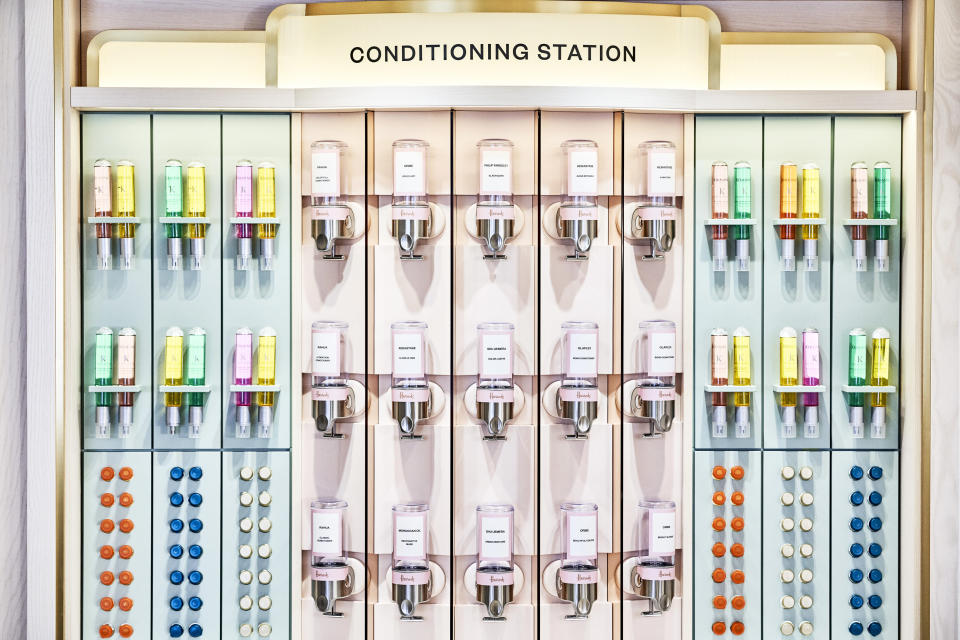 The Conditioning Station at Harrods' new Hair and Beauty Salon. - Credit: Image Courtesy of Harrods/Julian Broad
