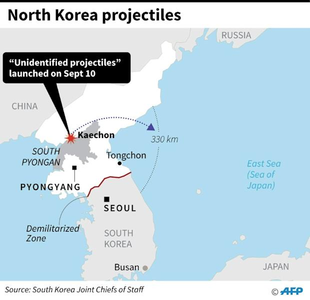 "This map shows where North Korea launched ""unidentifiable projectiles"" on September 9, 2019 -- state media says the launch was a test of a ""super-large multiple rocket launcher"""
