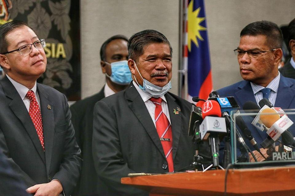 Former defence minister Mohamad Sabu speaks to reporters during a press conference at Parliament, Kuala Lumpur August 25, 2020. — Picture by Ahmad Zamzahuri