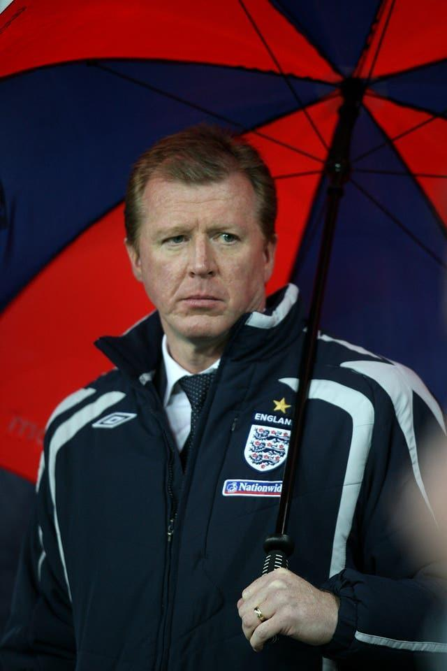 Steve McClaren was dubbed the 'wally with a brolly' after using an umbrella on the touchline during England's costly Euro 2008 qualifying defeat to Croatia