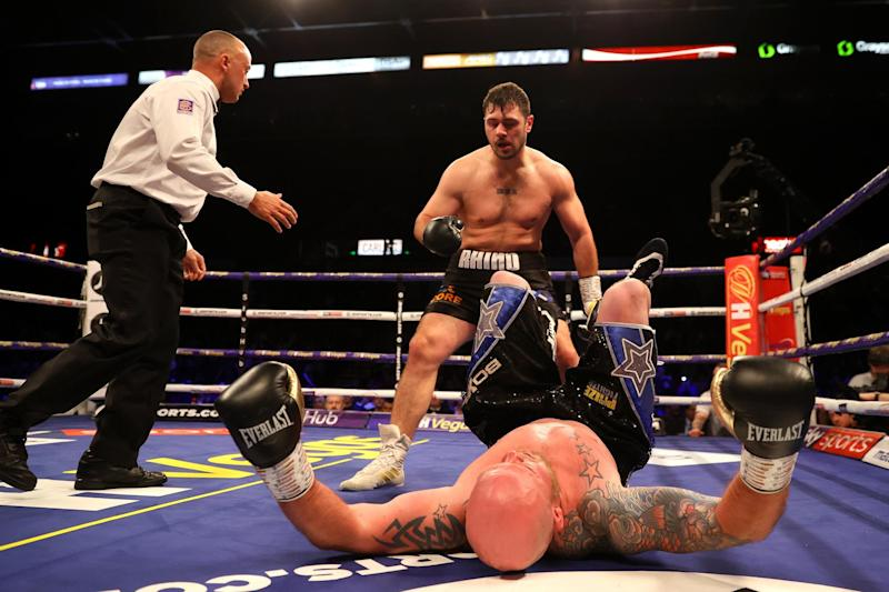 Dave Allen knocked out Dorian Darch in his last fight in February (Getty Images)