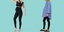 """<p>Shopping for new clothes is one of the many rites of passage you'll go through when you're pregnant. Whether it's something you're looking forward to or dreading, the good news is that there are plenty of brands to choose from for every budget and style preference to find maternity clothing that's comfortable, flattering, <em>and</em> affordable. </p><p>The <a href=""""https://www.goodhousekeeping.com/institute/about-the-institute/a19748212/good-housekeeping-institute-product-reviews/"""" rel=""""nofollow noopener"""" target=""""_blank"""" data-ylk=""""slk:Good Housekeeping Institute"""" class=""""link rapid-noclick-resp"""">Good Housekeeping Institute</a> Textiles Lab reviews <a href=""""https://www.goodhousekeeping.com/clothing/"""" rel=""""nofollow noopener"""" target=""""_blank"""" data-ylk=""""slk:all types of clothing"""" class=""""link rapid-noclick-resp"""">all types of clothing</a> and also evaluates parenting products, from <a href=""""https://www.goodhousekeeping.com/clothing/bra-reviews/g22789092/best-nursing-bras/"""" rel=""""nofollow noopener"""" target=""""_blank"""" data-ylk=""""slk:nursing bras"""" class=""""link rapid-noclick-resp"""">nursing bras</a> to <a href=""""https://www.goodhousekeeping.com/childrens-products/g5122/best-diaper-bags/"""" rel=""""nofollow noopener"""" target=""""_blank"""" data-ylk=""""slk:diaper bags"""" class=""""link rapid-noclick-resp"""">diaper bags</a> and <a href=""""https://www.goodhousekeeping.com/childrens-products/g33639244/best-maternity-leggings/"""" rel=""""nofollow noopener"""" target=""""_blank"""" data-ylk=""""slk:maternity leggings"""" class=""""link rapid-noclick-resp"""">maternity leggings</a>. When it comes to finding the best maternity clothes, our fiber scientists consider factors like the materials used, special features on the garments, value, and real user feedback. Read on to learn more about our top picks, but first, here's what to consider as you shop for maternity clothes.</p><h2 class=""""body-h2"""">When should I start wearing maternity clothing?</h2><p>While all bodies and bump sizes are different,<strong> most pregnant moms will start to wear"""