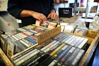 Britain's last cassette shop is benefitting from the current nostalgic trend but is full of current music (AFP/PAUL ELLIS)