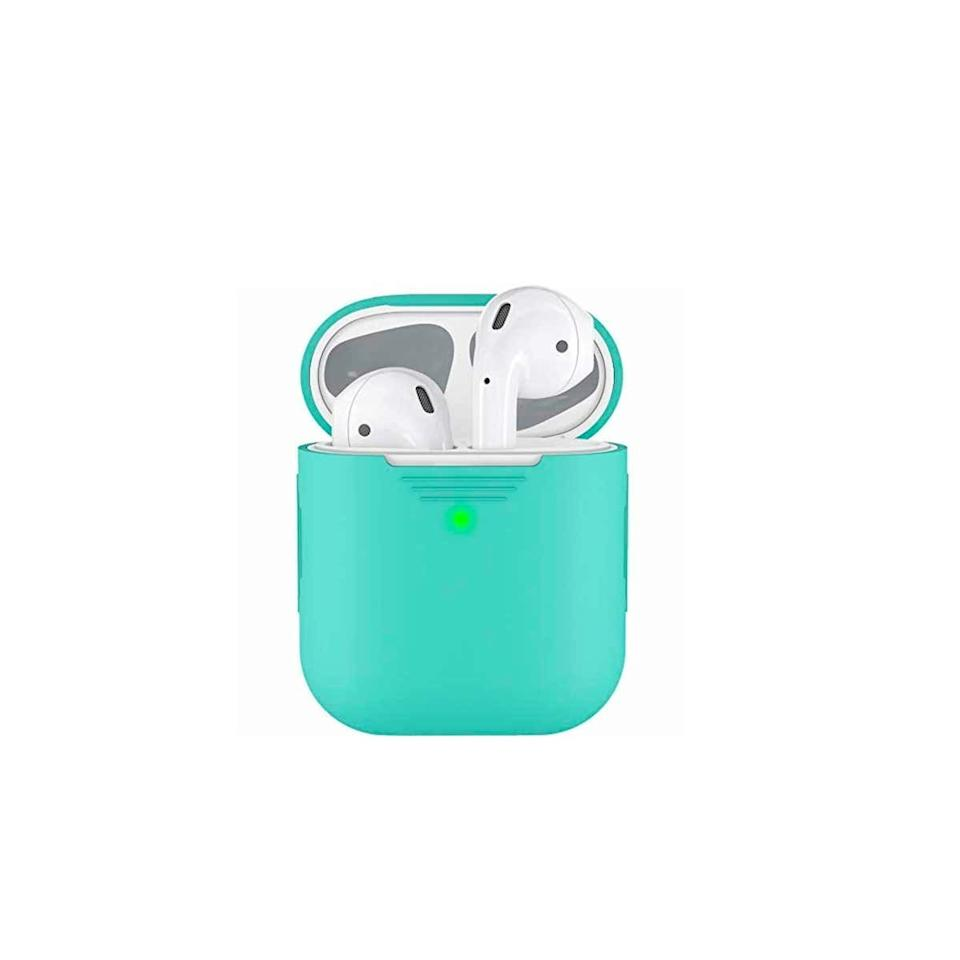 """This silicone cover protects an AirPods case from bumps and scratches, and it comes in a range of cute colors the musichead on your list will love. $7, Amazon. <a href=""""https://www.amazon.com/dp/B06XG6P444/ref=cm_gf_aST_i05_d_p0_c0_qd0___________________eUwRfzHwIF2YoEtDd2NN"""">Get it now!</a>"""