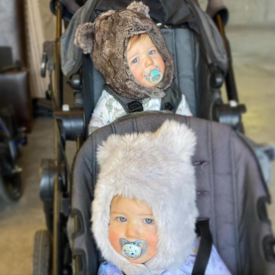 """<p>Bode and Morgan Miller's twin sons <a href=""""https://people.com/parents/bode-miller-morgan-miller-twins-name-reveal-christmas/"""" rel=""""nofollow noopener"""" target=""""_blank"""" data-ylk=""""slk:Asher and Aksel"""" class=""""link rapid-noclick-resp"""">Asher and Aksel</a> turned 1 on Nov. 8.</p>"""