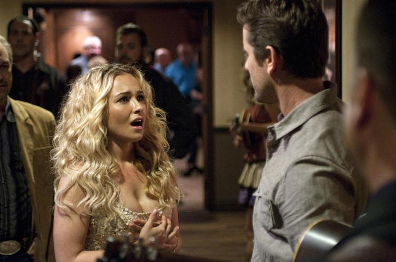 "This image released by ABC shows Hayden Panettiere as Juliette in a scene from the new series ""Nashville,"" premiering Oct. 10, at 10 p.m. EST on ABC. (AP Photo/ABC, Katherine Bomboy-Thornton)"