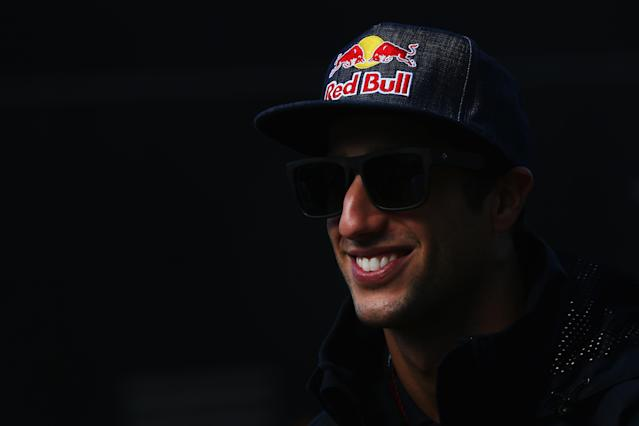 MONTMELO, SPAIN - MAY 12: Daniel Ricciardo of Australia and Scuderia Toro Rosso arrives in the paddock before the Spanish Formula One Grand Prix at the Circuit de Catalunya on May 12, 2013 in Montmelo, Spain. (Photo by Julian Finney/Getty Images)