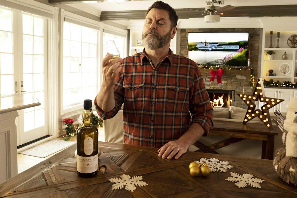 In the newest holiday spot in the 'Lagavulin: My Tales of Whisky' series, Nick Offerman shares how you can have a perfectly good holiday at home, free from endless screen time and new-fangled internet media, despite these unprecedented times.