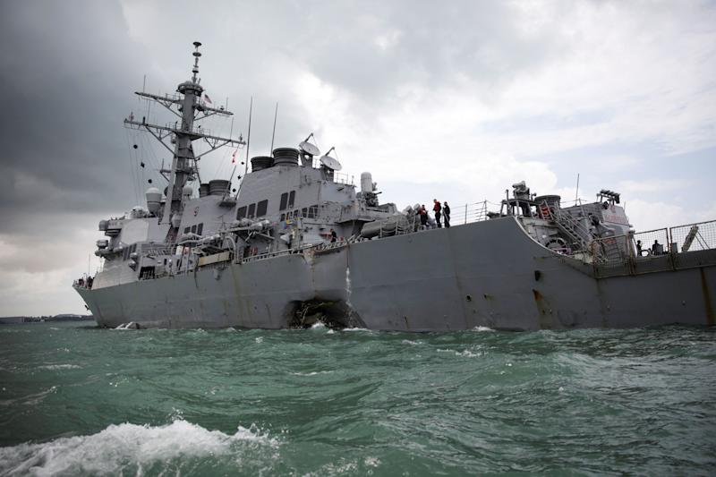 Navy removes admiral, captain following string of accidents