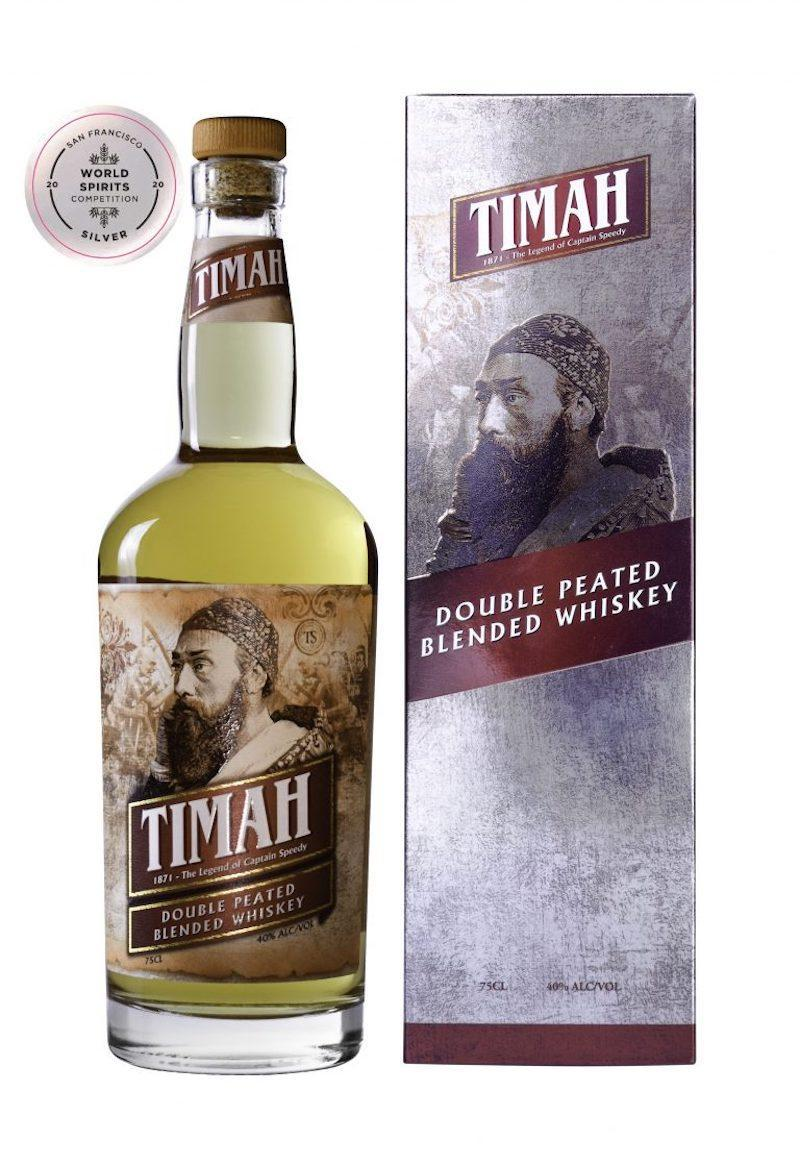 Tropical tipple: Timah Double Peated Blended Whiskey is an eight-year-old whisky featuring subtle verdant flavours with light fruity notes. — Picture from Winepak International