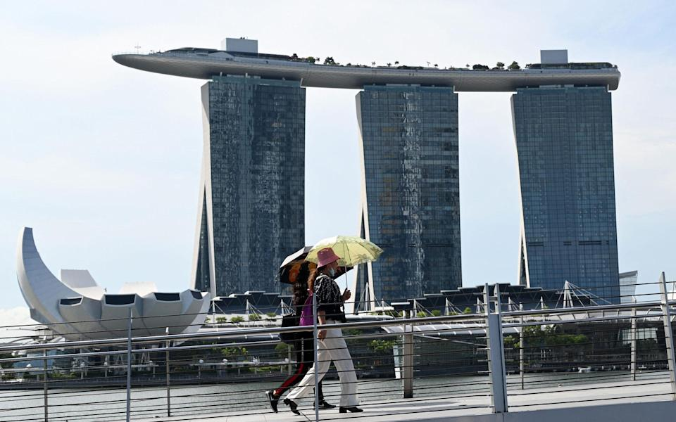 marina Bay Sands hotels and resorts centre in Singapore - AFP via Getty