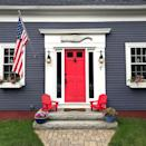 <p>For a nautical style, pair a punchy red with dark or black houses. They also look great with bright pink!</p>