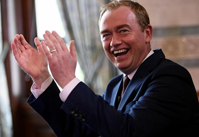 <p>Tim Farron, leader of Britain's Liberal Democrat Party, addresses the media after Britain's election, at his party HQ in London, Britain June 9, 2017. (Photo: Clodagh Kilcoyne/Reuters) </p>