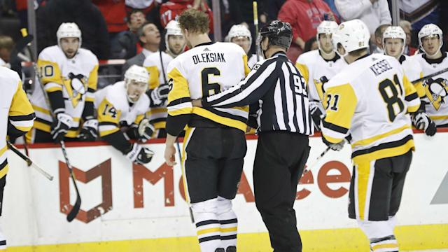 The last time the Caps and Penguins met, Tom Wilson delivered a one-sided beatdown to Jamie Oleksiak. Will there be more fisticuffs between Washington and Pittsburgh on Tuesday (7 p.m., NBC Sports Washington)?