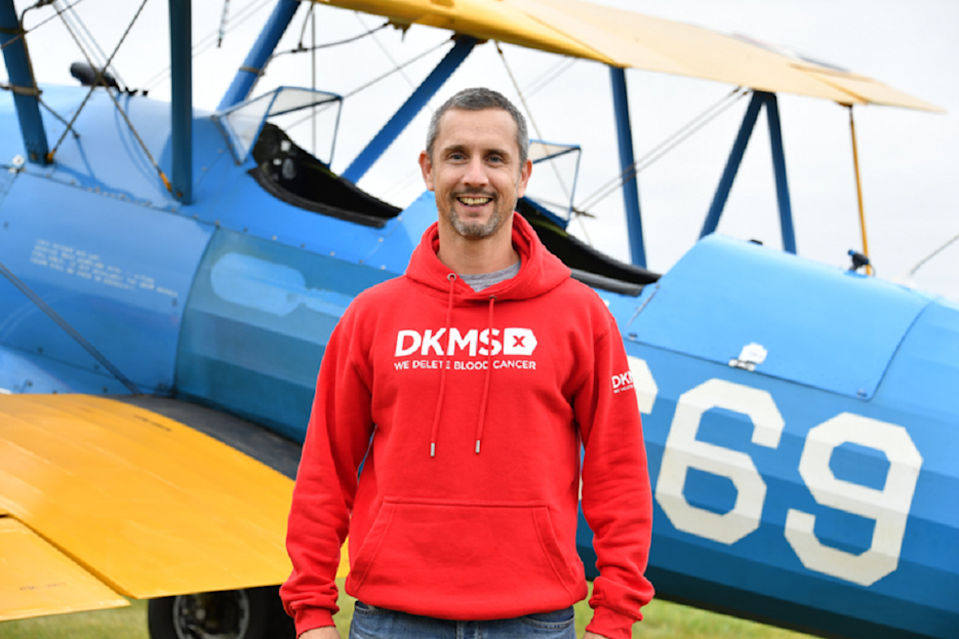 DKMS blood cancer patient and wing walker Peter McCleave (Theo Wood/DKMS).