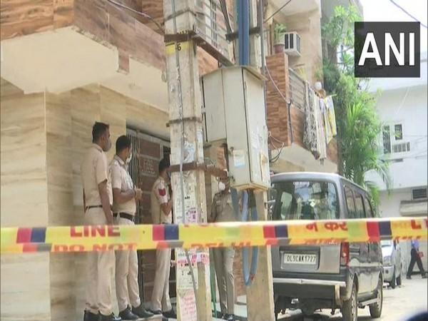 A visual from outside the flat from where the decomposed body of Trilochan Singh Wazir was found, in New Delhi on Thursday. [Photo/ANI]