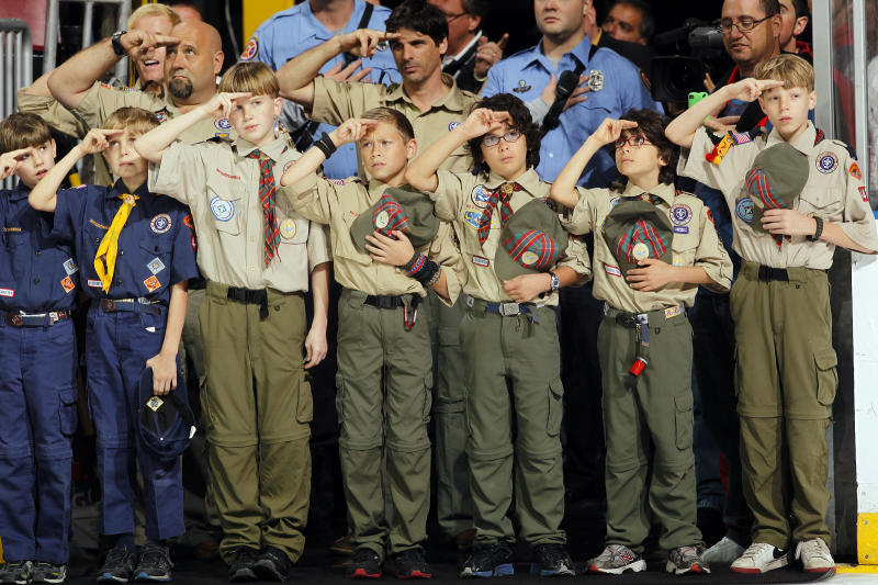 Boy Scouts of America announced Wednesday that the organization would be allowing girls to join its Cub Scout program and developing a scouting program for older girls to enable them to earn the rank of Eagle Scout. (Eliot J. Schechter via Getty Images)