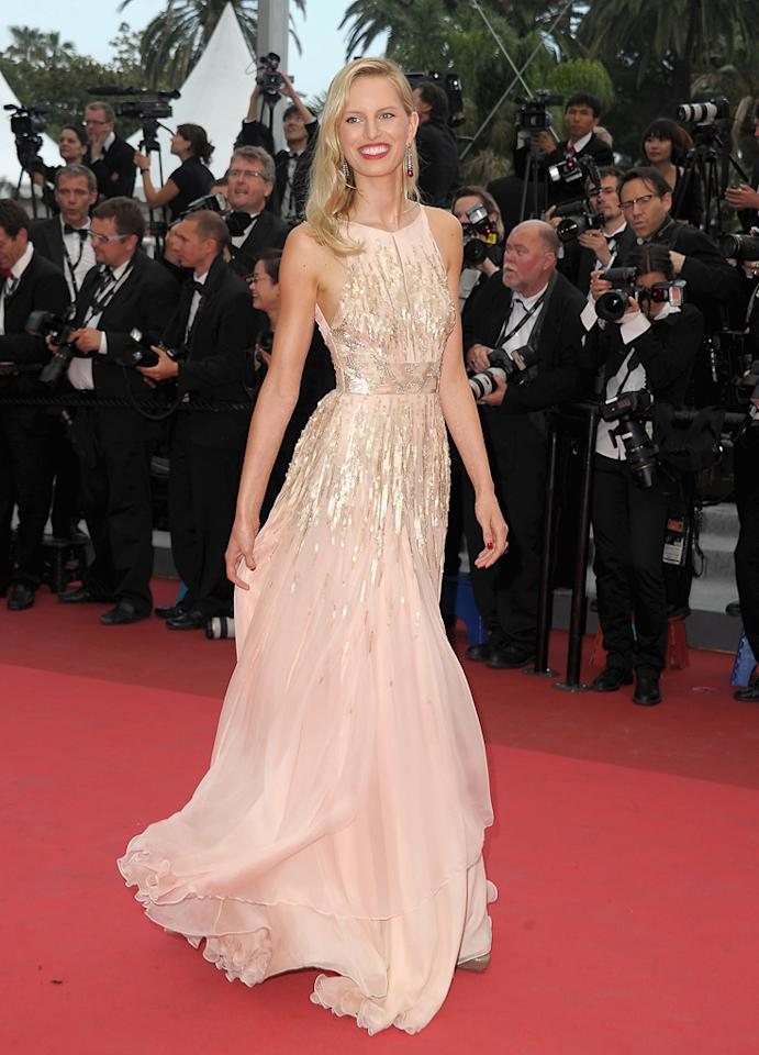 """<a href=""""http://movies.yahoo.com/movie/contributor/1809697985"""">Karolina Kurkova</a> attends the 64th Annual Cannes Film Festival premiere of """"Les Bien-Aimes"""" on May 22, 2011."""