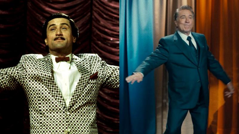Robert De Niro played an aspiring comedian in 'The King of Comedy', but now plays a veteran of the stage. (Credit: 20th Century Fox/Warner Bros)