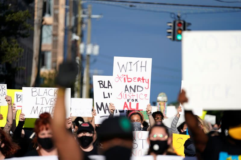 Protest in Louisville following death of Breonna Taylor