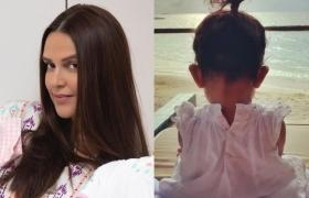 Neha Dhupia shares first picture of daughter Mehr on social media