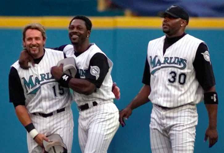 Kevin Millar, Preston Wilson and Cliff Floyd were at the core of the 1999 Florida Marlins. (AP Photo)