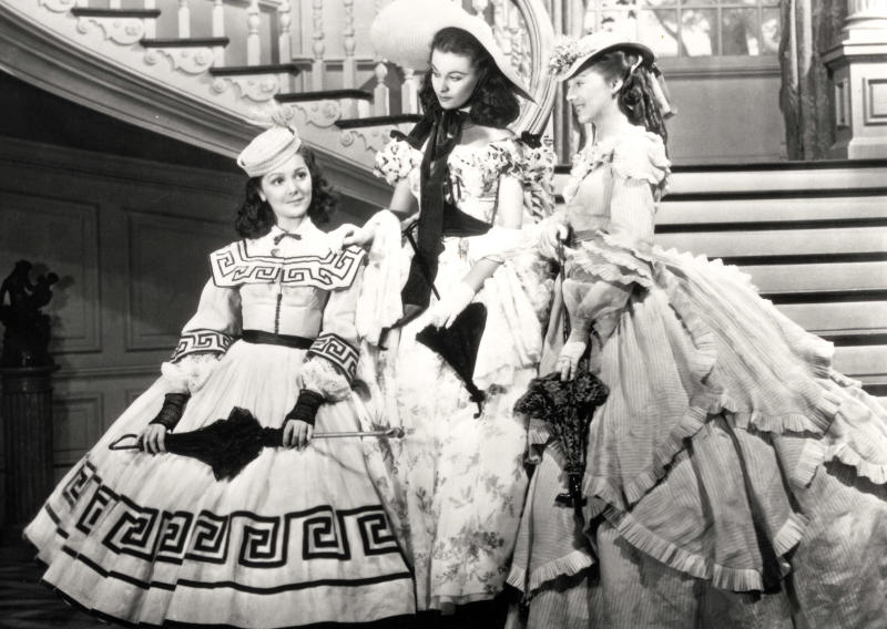 "This undated image from the film ""Gone with the Wind"" provided by New Line Cinema shows, from left, Ann Rutherford, Vivien Leigh and Evelyn Keyes. Rutherford, who played Scarlett O'Hara's sister Carreen in the 1939 movie classic ""Gone With the Wind,"" died at her home in Beverly Hills, Calif. on Monday, June 11, 2012.  She was 94.  (AP Photo/New Line Cinema)"