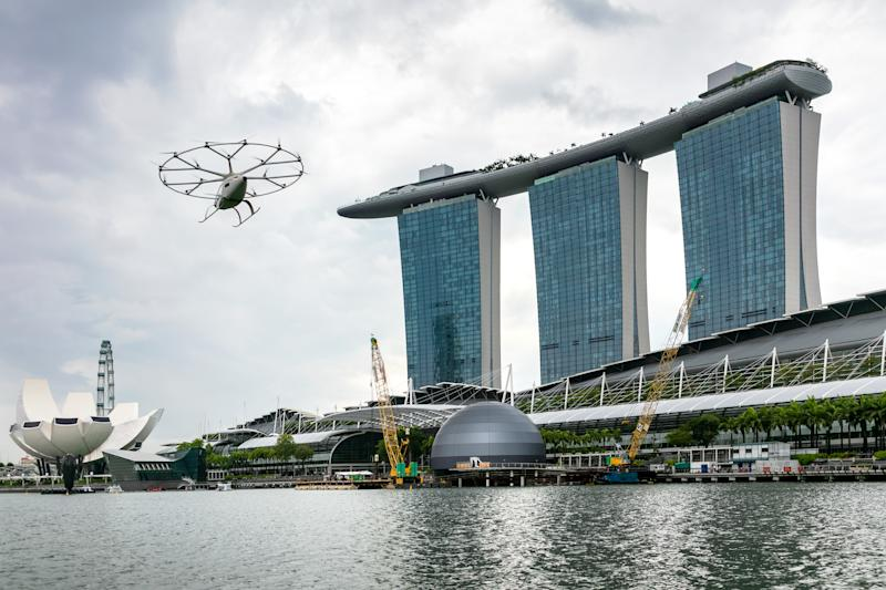 Volocopter's first public flight in Singapore. Credit: Volocopter