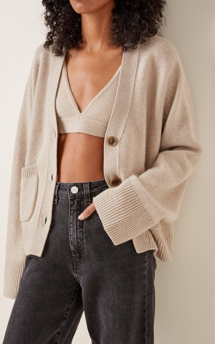<p>This <span>Lisa Yang Cappucinne Cashmere Bralette Top</span> ($130) and <span>Danni Cardigan</span> ($490) is the perfect blend of cozy, sexy, and cool. We're into the whole thing.</p>