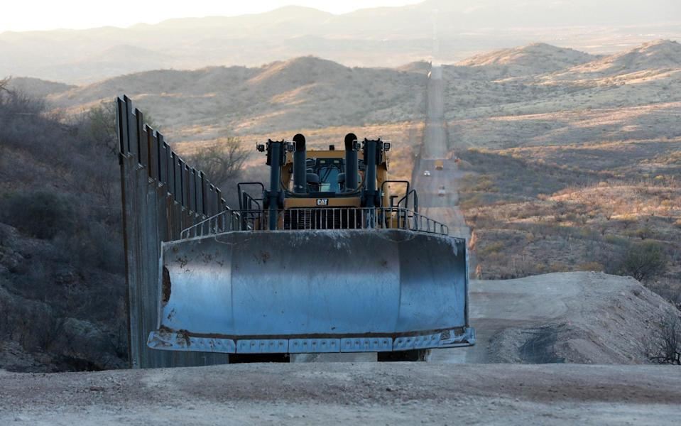 Construction continues along the border wall with Mexico championed by U.S. President Donald Trump in Sasabe, Arizona - Micah Garen/Getty Images North America