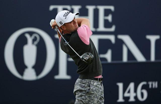 Justin Thomas had a terrible, horrible, no good, very bad day. (Getty Images)