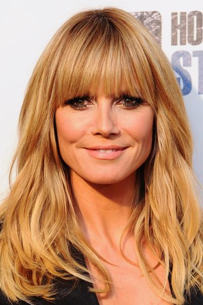 "<div class=""caption-credit"">Photo by: Getty</div><div class=""caption-title"">Heavy Bang</div>A heavy bang like Heidi Klum's can give the illusion of thicker hair. Brands like Luxhair and Hairdo offer great clip-in bang options for those who want a temporary change."
