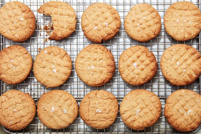 """If you have a jar of creamy peanut butter on hand, you could have these flourless, gluten-free cookies in just a few minutes… <a href=""""https://www.epicurious.com/recipes/food/views/3-ingredient-peanut-butter-cookies?mbid=synd_yahoo_rss"""" rel=""""nofollow noopener"""" target=""""_blank"""" data-ylk=""""slk:See recipe."""" class=""""link rapid-noclick-resp"""">See recipe.</a>"""