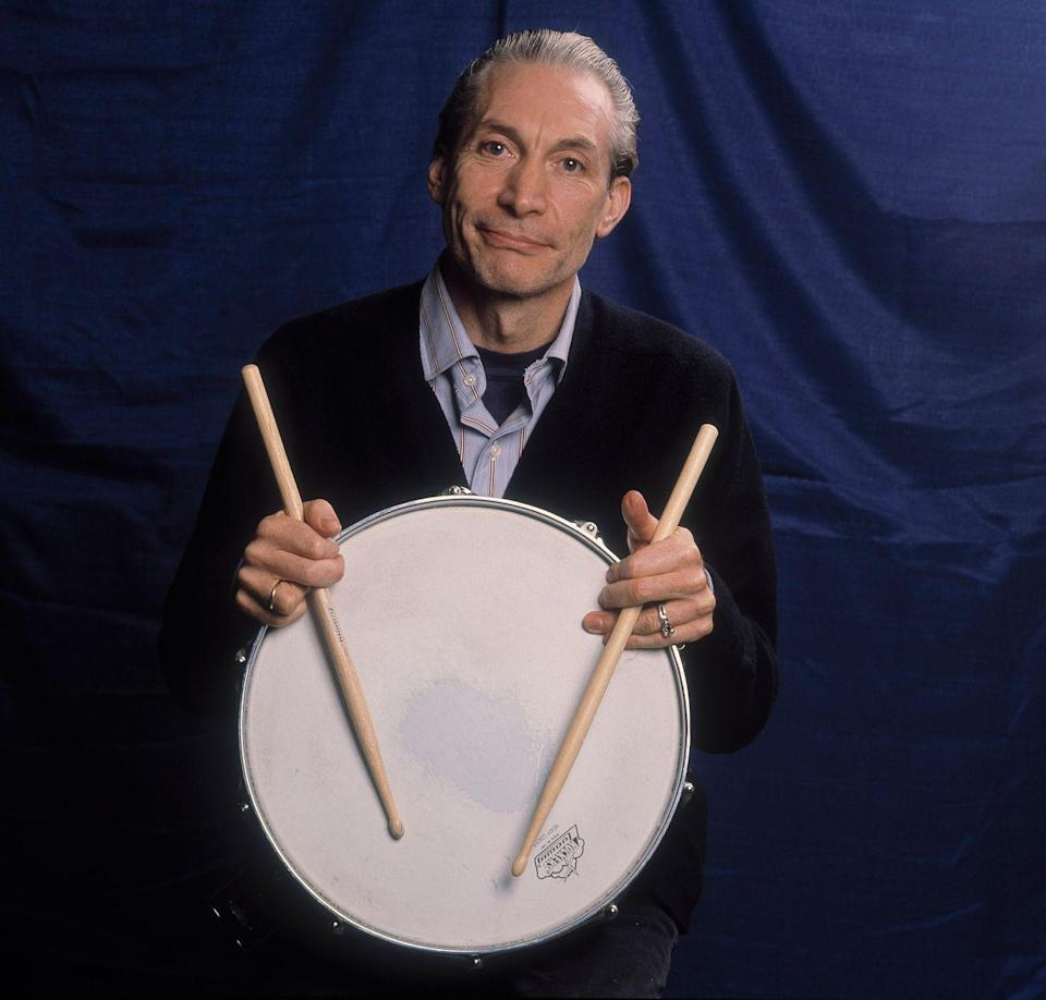 <p>Promotional portrait of British musician Charlie Watts of the Rolling Stones in support of the band's 'Steel Wheels' tour, late 1989.</p>