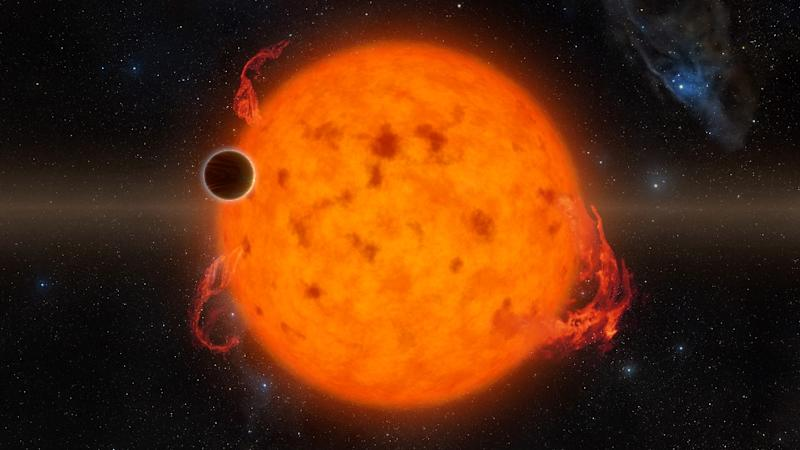 This 2016 handout illustration obtained courtesy of NASA/JPL-Caltech shows the K2-33, at the time one of the youngest exoplanets detected to date
