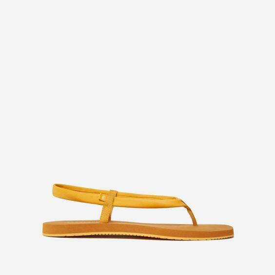 """We love an elevated flip flop. $38, Everlane. <a href=""""https://www.everlane.com/products/womens-renew-strappy-sandal-marigold?collection=womens-sale"""" rel=""""nofollow noopener"""" target=""""_blank"""" data-ylk=""""slk:Get it now!"""" class=""""link rapid-noclick-resp"""">Get it now!</a>"""