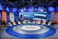 The final TV debate did little to shake up a race expected to end in lengthy coalition negotiations (AFP/Tobias SCHWARZ)