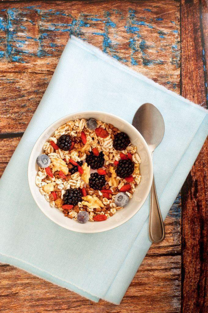 """<p>Muesli can be healthy under certain circumstances, but you have to read labels carefully, Upton says. Because muesli is typically packed with nuts and dried fruit, it can add up in the calorie and fat department pretty quickly. That's why serving sizes are typically small—but many people ignore them and eat muesli just like they would """"regular"""" cereal, loading up on calories and fat quickly. """"Most muesli sold in the U.S. is also sweetened, unless you look for an option that clearly states unsweetened,"""" Upton says.</p>"""